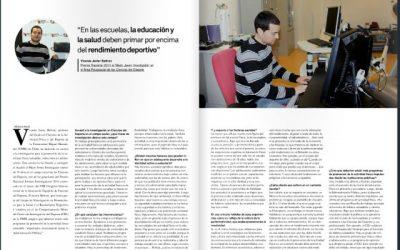 Vicente Beltrán entrevistado para la Revista Sapiens
