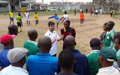 Raúl Reina impartió un workshop en Nigeria sobre Fútbol Paralímpico