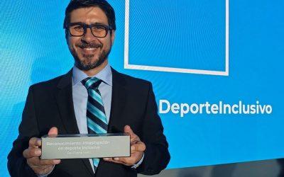 Raúl Reina recibe el Premio Fundación Sanitas 2019 a la Investigación en Deporte Inclusivo