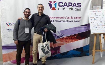 Alejandro Jiménez y Vicente Beltrán participaron en el «Congreso Internacional CAPAS-Ciudad. Liderazgo en la promoción de la actividad física»